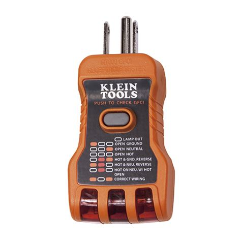 Klein Tools Gfci Receptacle Tester Test
