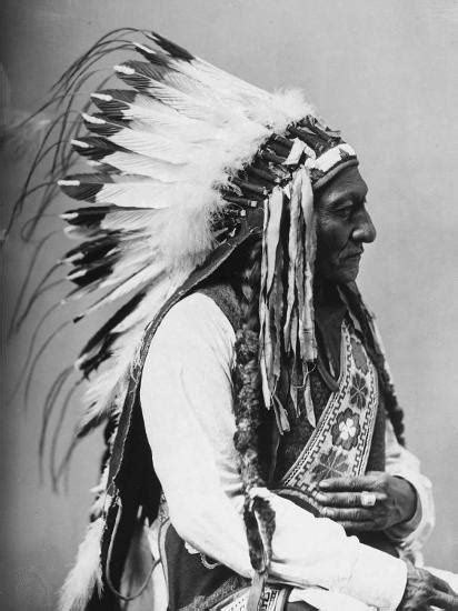 Indian Chief Backgrounds by Portrait Of An American Indian Chief Photographic Print By