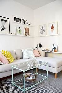 une idee deco pour un petit salon lumineux cosy With deco petit espace salon