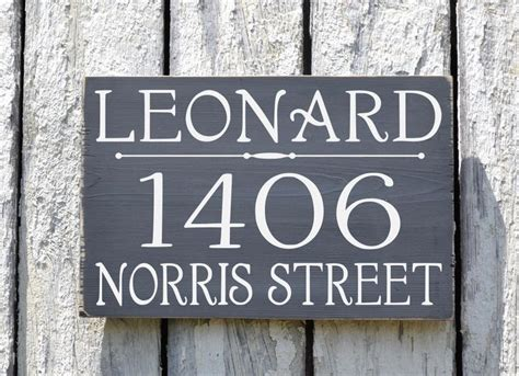 house number sign for l post custom address plaque large personalized numbers house