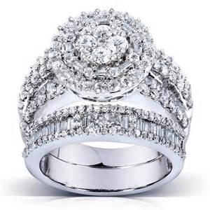 gold wedding ring sets bridal sets bridal sets 14k white gold 3k