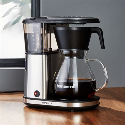 bonavita  cup glass carafe coffee maker crate  barrel