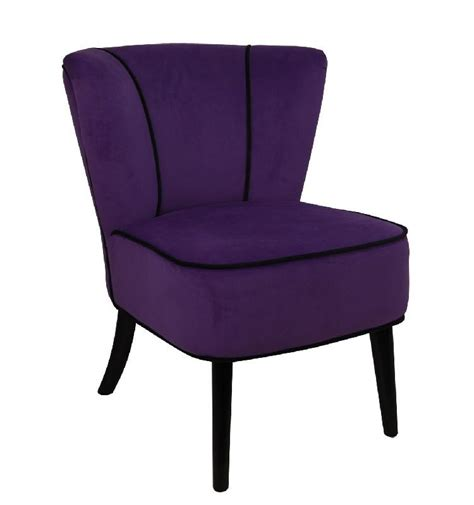 fauteuil crapaud violet aspect velours so skin