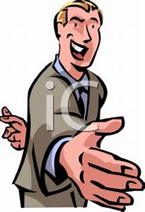 Royalty Free Clip Art Image: Man with His Fingers Crossed ...