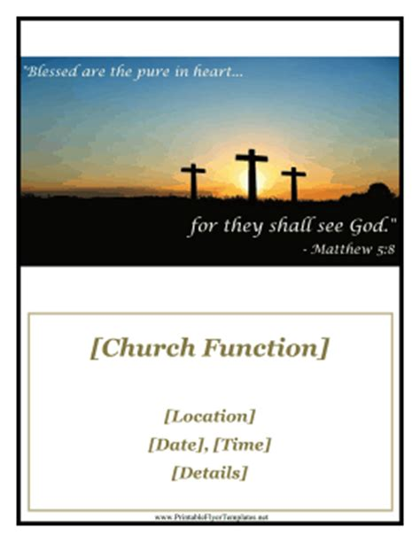 church function flyer