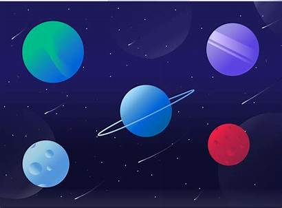 Sky Planets Dribbble