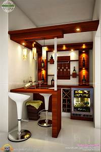 Total home interior solutions by creo homes kerala home for Interior bar counter design for home
