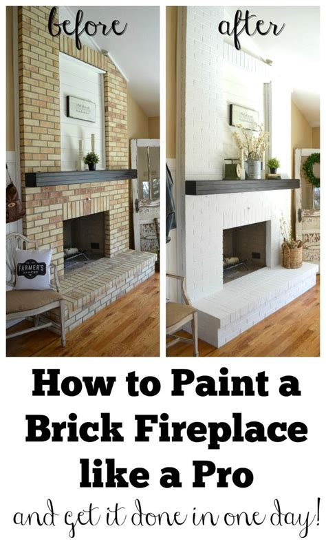 Paint Colors Living Room Brick Fireplace by Best 25 Painting A Fireplace Ideas On
