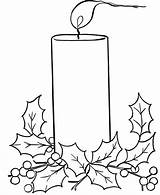 Candle Christmas Coloring Pages Drawing Birthday Candles Wind Advent Lights Printable Blowing Melting Blow Drawings Clipart Template Pencil Decoration Tree sketch template