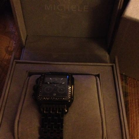 34% off michelle Jewelry - Michele black diamond Deco