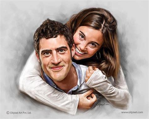 Couple Portrait Digital Painting Painting By Oil Pixel