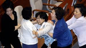 Female MP sent to hospital as South Korean parliament ...