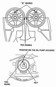 2000 Honda Accord Lx  Timing The Oil Pump Sprocket  Marks
