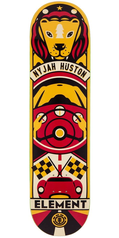 Nyjah Huston Owl Deck by Element Nyjah Huston Totem Skateboard Deck 7 7 Quot