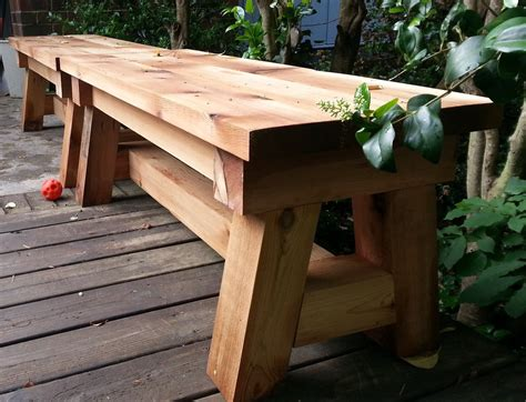 ana white cedar benches diy projects