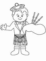 Scotland Coloring Pages Bagpiper Crafts Scottish Colouring Burns Night Activities Preschool Yahoo Results Easter Bagpipe Books Searchya Nessie Coloringpagebook St sketch template