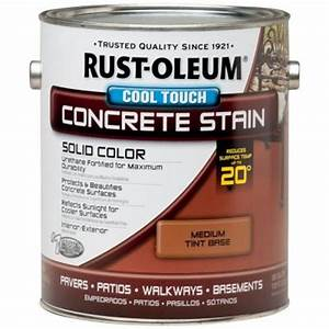 Rust Oleum 1 Gal Concrete Stain Cool Touch Medium Tint