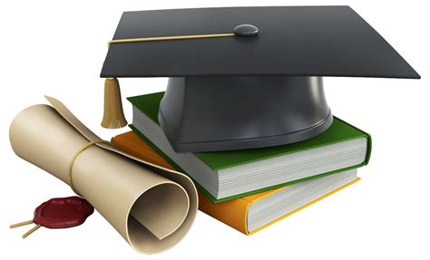 Graduation Cap Books And Diploma Png Clipart
