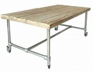 Tisch Rollen Klappbar : tisch mit rollen im industriedesign esstisch mit tischbeinen aus metall l nge 220 cm kaufen ~ Markanthonyermac.com Haus und Dekorationen