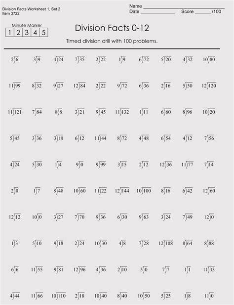 printable division worksheets  grade    downloads