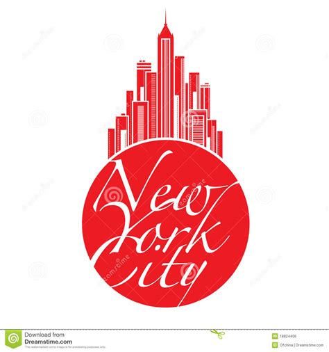 New York City Big Apple Stock Vector Illustration Of