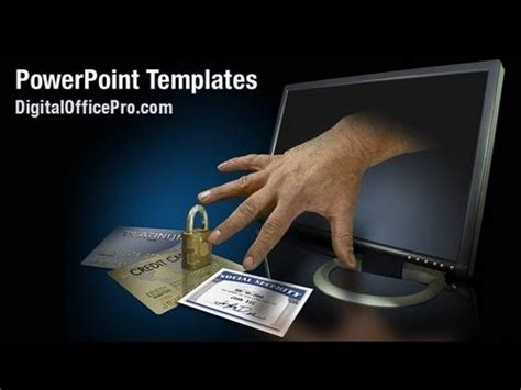 identity theft powerpoint template backgrounds