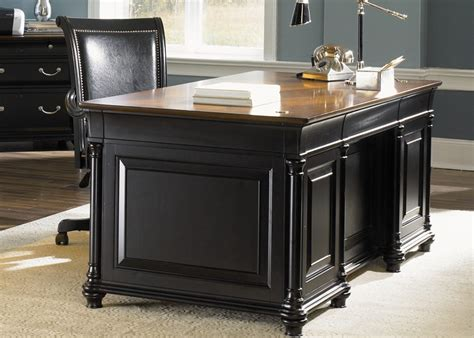 two desks st ives executive home office desk in two tone finish by