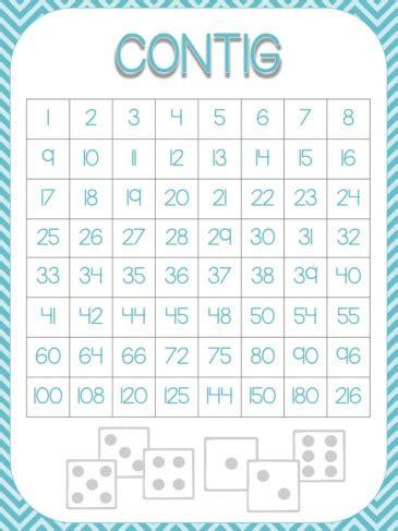 contig math game freebie common core aligned