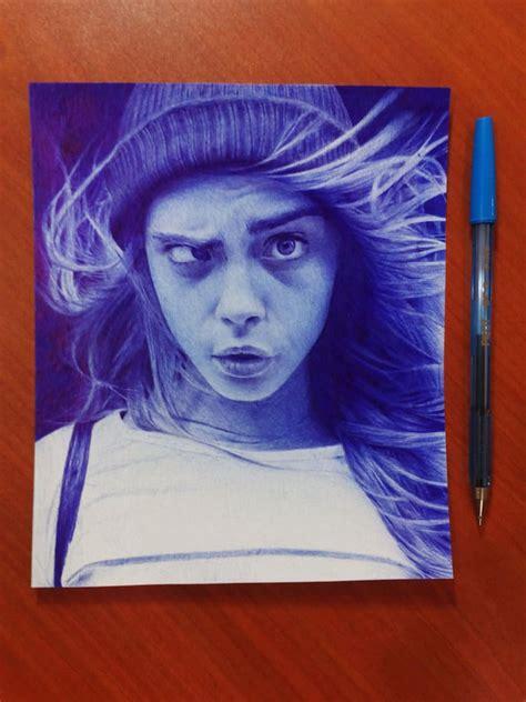 pieces  ballpoint  art  photorealistic portraits
