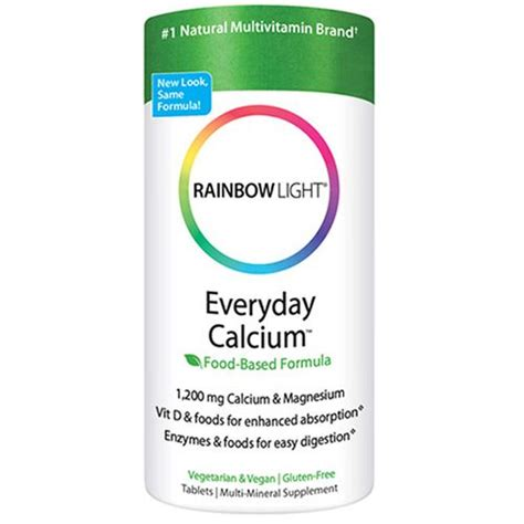rainbow light everyday calcium reviews rainbow light everyday calcium with enzymes 120 tablets