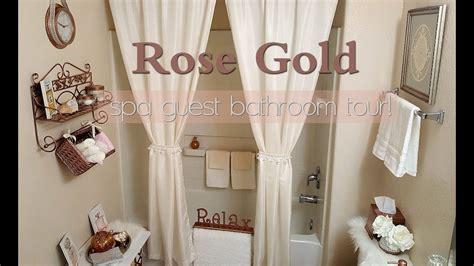rose gold spa bathroom  small guest bathroom