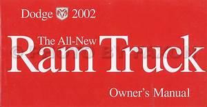 2002 Dodge Ram 1500 Pickup Owners Manual Original Oem