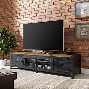 Modway, Dungeon, Industrial, Pine, Wood, Tv, Stand, In, Black, -, Walmart, Com