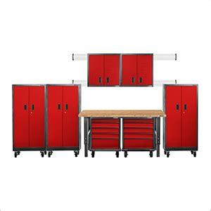 red gladiator garage cabinets