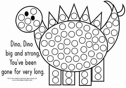 Coloring Dot Pages Popular Dino