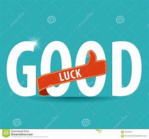 Good Luck Sign With Thumbs Up Stock Vector - Illustration ...