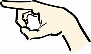 Clipart - pointing hand