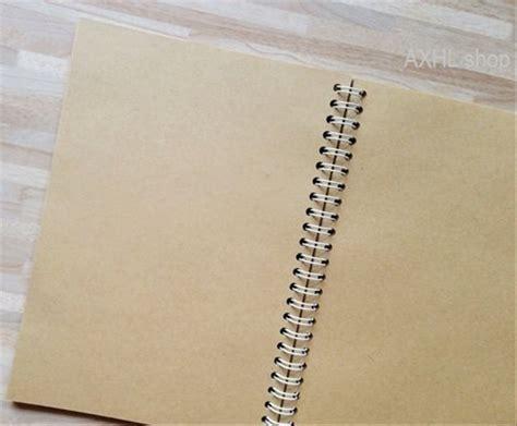 jual buku tulis catatan kertas coklat polos  simple