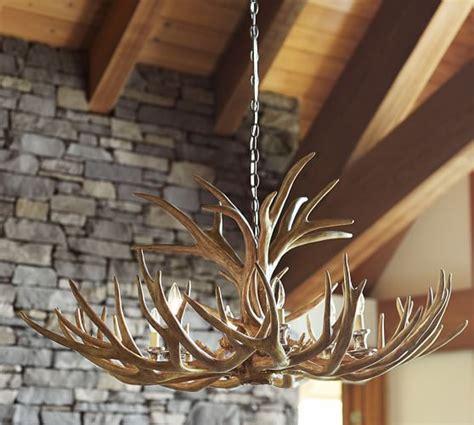 faux antler chandelier pottery barn