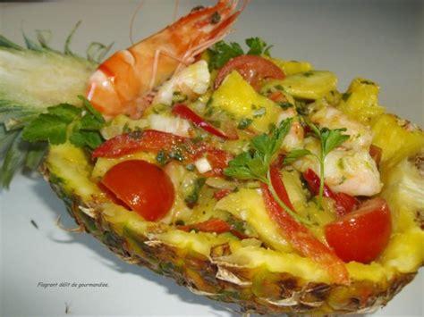 cuisine thailandaise recette salade thaïlandaise ananas crevettes yam pla goong