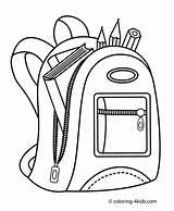 Backpack Drawing Kid Clipartmag sketch template