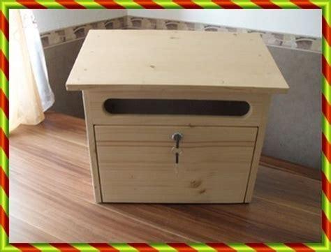 Holzbriefkasten,Postkasten aus Holz Briefkasten von