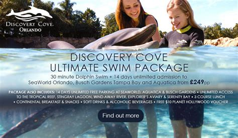 Discovery Cove Orlando Tickets by Orlando Theme Park Passes Theme Park Tickets 2017