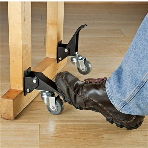 rockler toe lift casters woodworking tools american woodworker movable partitions