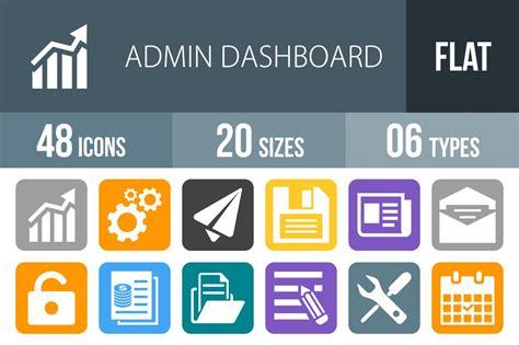 admin dashboard flat  corner icons creative market