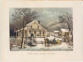 Currier and Ives the Old Farm House