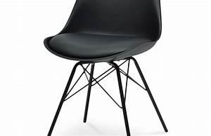 Chaise Scandinave Pied Metal : chaise scandinave pied noir sofag ~ Teatrodelosmanantiales.com Idées de Décoration