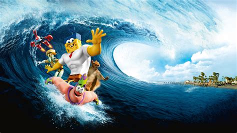 full hd wallpaper spongebob wave surfing desktop
