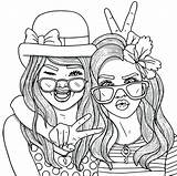Coloring Pages Friend Print Friends Forever Amazing Getdrawings sketch template