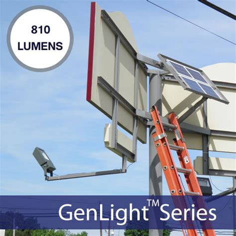 genlight medium solar sign lights commercial solar sign